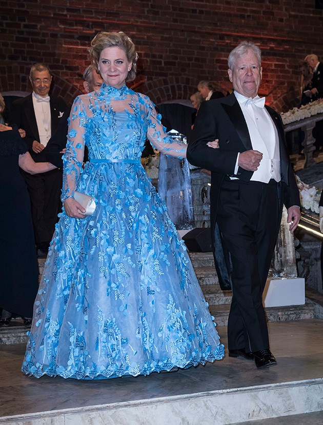 Magdalena Andersson wears Camilla Thulin Design at the Nobel Banquet 2017. The dress is made at Camillas atelje in Stockholm.