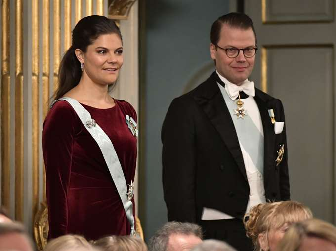 Crown Princess Victoria wore studio made Camilla Thulin dress at the opening of The Swedish Academy 2017